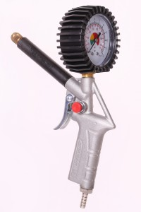 Airshaft Inflator with Gauge - 98032 Brass Nozzle